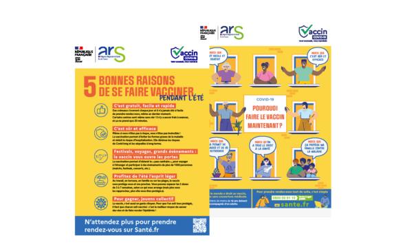 """Flyer ARS """"5 bonnes raisons de se faire vacciner"""""""