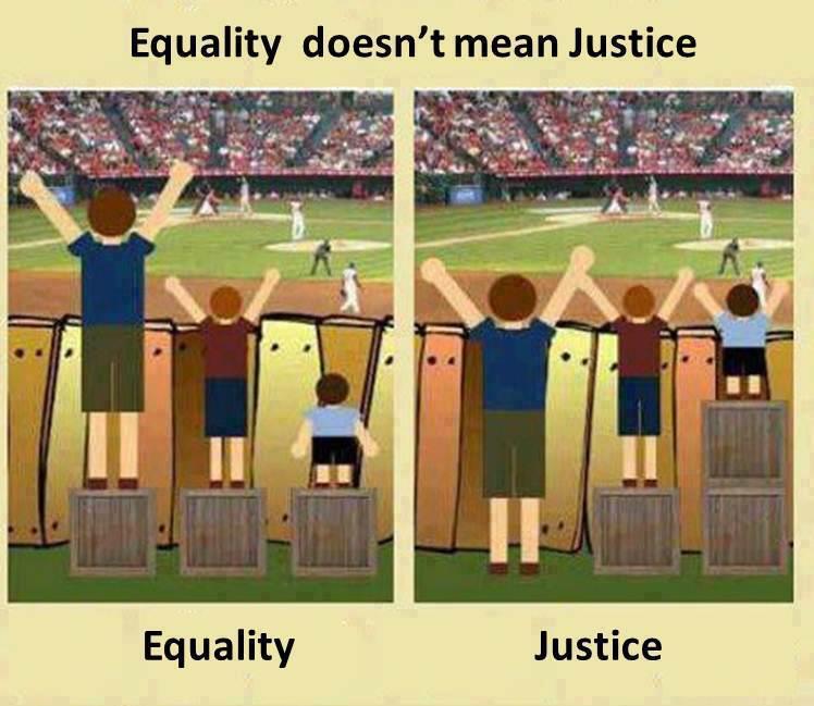 dessin égalité équité justice