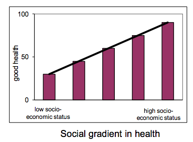 Courbe gradient social