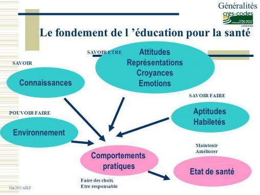 Schéma éducation pour la santé Cres-Codes Lorraine